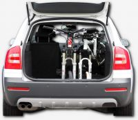BikeInside interior bicycle rack station wagon, 2 bikes against driving direction, rear seat available!